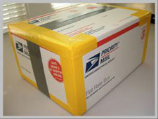 heavy scrap carbide for recycling in usps flat rate box - properly packaged