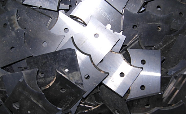 scrap carbide saw blades with a slight braze