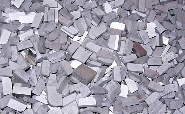 scrap carbide wear tips no-braise for recycling